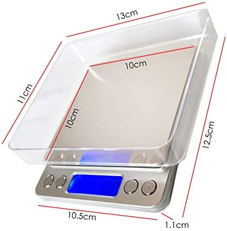 Digital Kitchen Scales, 500g/0.01g Professional Digital Table Top Scale High-Precision Food Scales Jewelry Scales Nutrition Scales with LCD Back-Lit Display