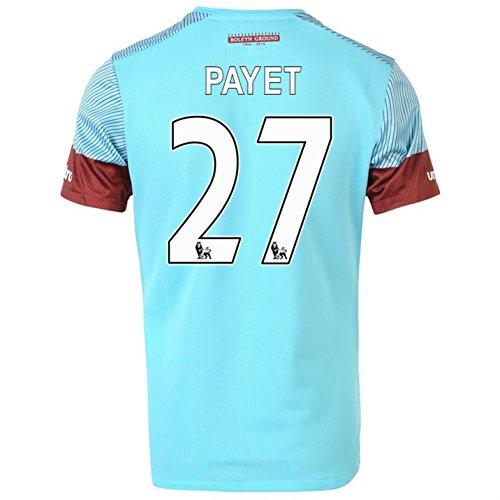 (Umbro 2015-16 West Ham Away Football Soccer T-Shirt Jersey (Dimitri Payet 27))