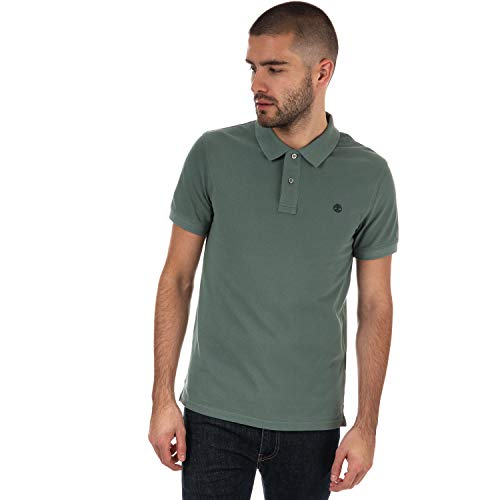 Timberland Men's Millers River Polo Shirt S Green