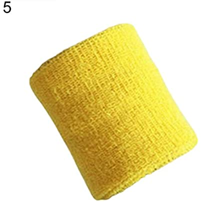 1Pc Unisex Sports Tennis Badminton Sweat Absorb Band Wrist Protector Wristband Geshiglobal Estimated Price £1.28 -