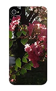 Blessuotpx Iphone 5/5s Hybrid Tpu Case Cover Silicon Bumper Pink Flower In Sunlight