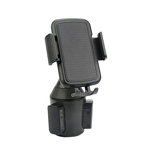 dulawei3 Universal Portable Adjustable Vehicle Anti-Slip Car Cup Holder Phone Stand Holder Cradle Mount for iPhone Xs MAX XR X 8/7/6/6s Plus Samsung Galaxy S5/S6/S7/S8/S9 Note 9 8 Huawei LG Black