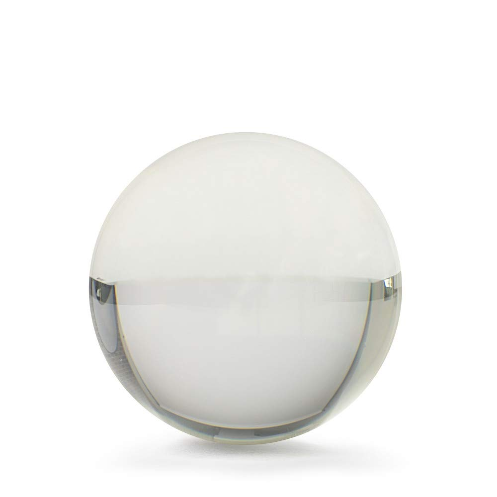 Rock Ridge Clear Acrylic Juggling Ball for Contact Juggling | Great for Beginners and Professionals, Contact Juggling Ball for Magic Tricks, 100mm Juggling Ball