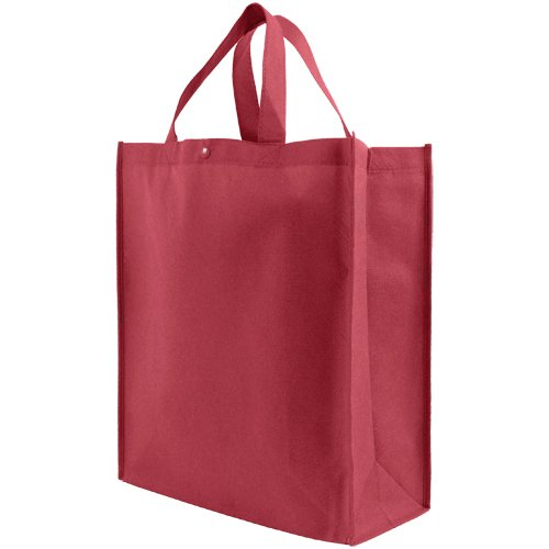 Recycled Grocery Totes (Reusable Grocery Tote Bag Large 10 Pack - Burgundy)