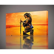 Wonder Woman Movie CANVAS PRINT Home Wall Decor Giclee Art Poster CA551, Small