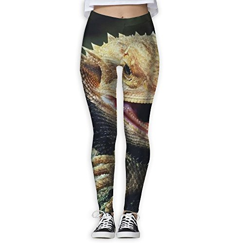 Women's Ugly Bearded Dragon Lizards Yoga Long Pants,Athletic Gym Pants Casual Sweatpants