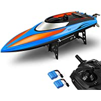 Gizmovine RC Boat Pool Toys High Speed (20MPH+) Remote Control Boat for Pools and Lakes for Adults & Kids (Blue and Orange)