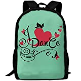 OIlXKV I Love Dance Print Custom Casual School Bag Backpack Multipurpose Travel Daypack For Adult