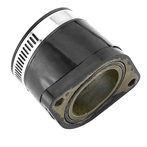 Interfaz del m/últiple del carburador de la motocicleta Adaptador del tubo de admisi/ón del carburador Pegamento del conector para Yamaha TTR 250 TTR250 4GY-Negro