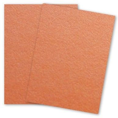 Curious Metallic - MANDARIN Card Stock - 111lb Cover - 8.5 x 11 - 250 PK by Paper Papers