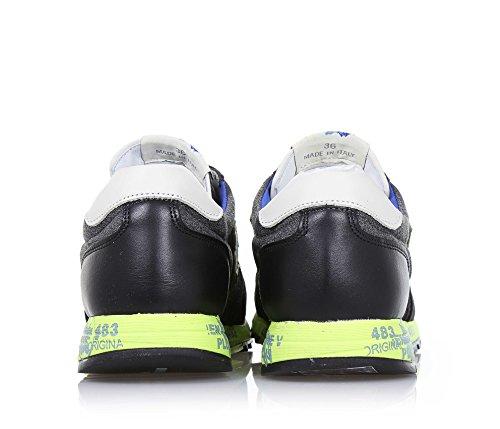 PREMIATA - Zapato de cordones verde y gris, de ante y tejido, producto de diseño tipico del Made in Italy de alta calidad, con cordones verdes, Niño, Niños
