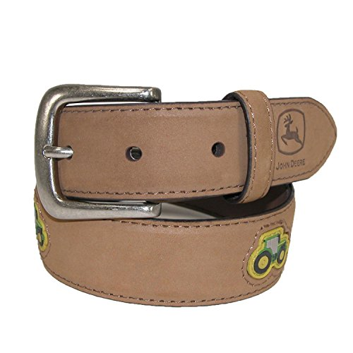 John Deere Little Boys' Childrens Tractor Belt, Crazyhorse Tan, 24 - Tan Tractors