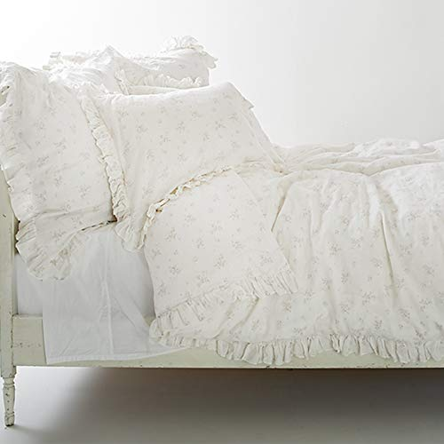 Rachel Ashwell Rosabelle Duvet Cover Full/Queen White for sale  Delivered anywhere in USA