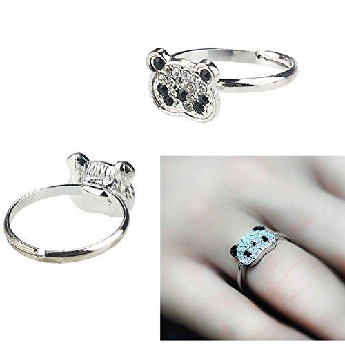 Susenstone(TM) Women Fashion Lovely Cute Full Crystal Rhinestone Panda Animals Rings