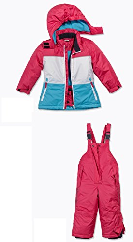 Kleinkinder Baby Set Schneeanzug, Schneejacke + Schneehose Gr. 74 NEU Blau-pink