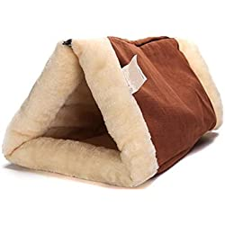 Corner Biz Pet - Cat Comfortable Bed Snooze Tunnel Mat Winter Warm Cats Dogs Blanket Kennel Crate Cage Shack House