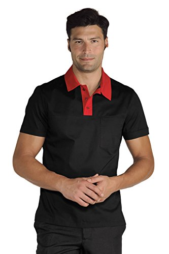 Meister–Polo Miami Unisex Stretch schwarz rot