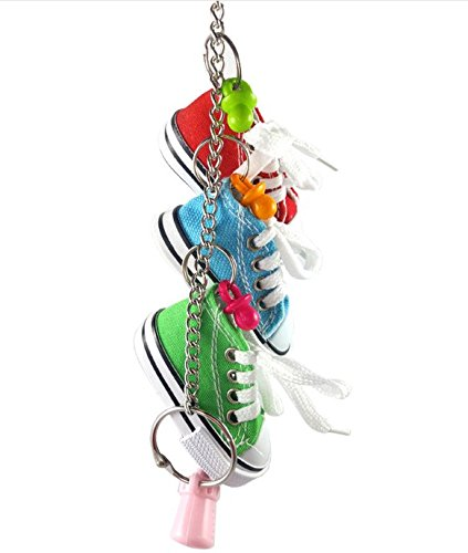 Hapa 3 Mini Creations Sneaker Bird Toy - Parrot Toys Craft Cage For Small Dog,Cat,Pet Cockatiel,African Grey,Cockatoo by Hapa