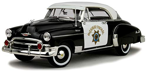 Motor Max 1/18 CHP California Highway Patrol 1950 Chevy Bel Air Police Car