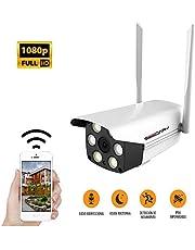 SEEDARY Cámara de Seguridad Exterior WIFI Inalambrica HD1080P Impermeable, IP Cámara Vigilancia Con Audio Bidireccional Detección de Movimiento Visión Nocturna, Cámara para Casa Inteligente APP IcSee Compatible con iOS/Android