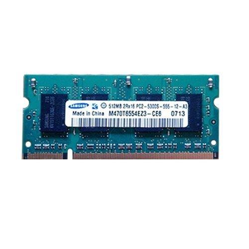 (Samsung 512MB PC2-5300 DDR2-667 Non-ECC Unbuffered M470T6554EZ3-CE6)