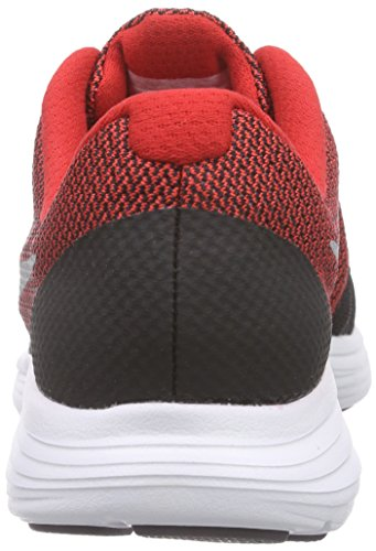 NIKE Boys' Revolution 3 Running Shoe (GS), University Red/Metallic Silver/Black, 4.5 M US Big Kid by Nike (Image #2)