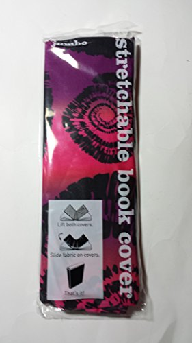Stretchable Jumbo Book Cover - MULTICOLOR FLORAL (Pink, Purple & Black)
