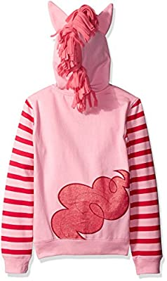 My Little Pony Girls' Pinky Pie Hoodie and Hoodie/T-Shirt Bundle