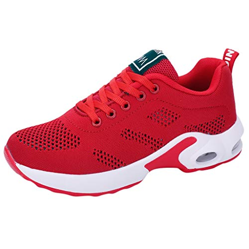 OrchidAmor 2019 Fashion Women's Mesh Fitness Sport Sneakers Casual Shoes Student Mesh Breathable Running Shoes Red (Red Tube Brille)