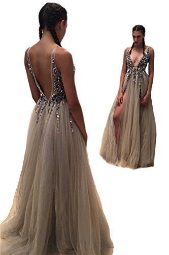 TBGirl Backless Sleeveless Dressses Beadings product image
