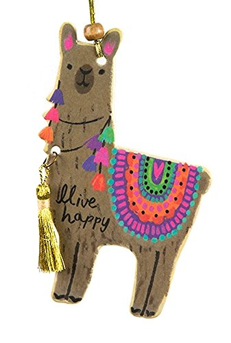 Natural Life Car Air Freshener Llama (pack of 2) Orange Scent Cute Natural