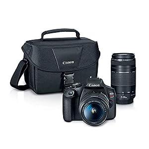 Canon EOS Rebel T7 Digital SLR Camera Body + EF-S 18-55mm f/3.5-5.6 IS II + EF 75-300mm f/4-5.6 III Lens + EOS Shoulder…
