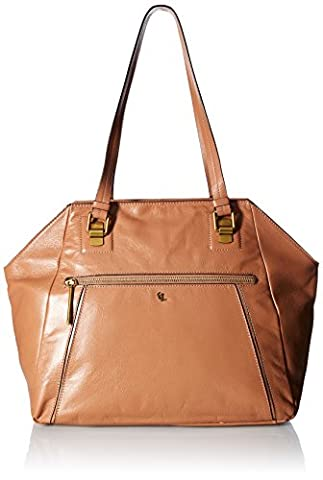 Elliott Lucca Faro Shoulder Tote, Almond - Elliott Lucca Leather Shoulder Bag