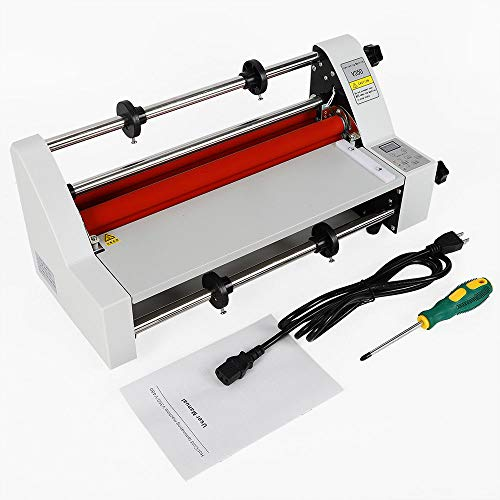 V350 350mm Hot Cold Roll Laminator, Digital Display Single and Dual Sided Thermal Laminating Machine with 4 Rollers for Home Office School