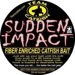 Team Catfish Sudden Impact Fiber Bait (12 oz)-si12