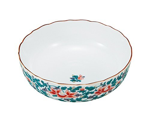Kutani Yaki Peony Karakusa 6.9inch Medium Bowl Porcelain Made in Japan (Vegetable Bowl Peony)