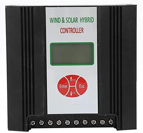 Hybrid Solar Wind Charge Controller, 48V Solarladeregler Windladeregler Wasserdichter Hybridladeregler Solarpanel mit LCD Display Solarreglersystem Elektrische Ausrüstung (Wind: 600W Solar: 300W)