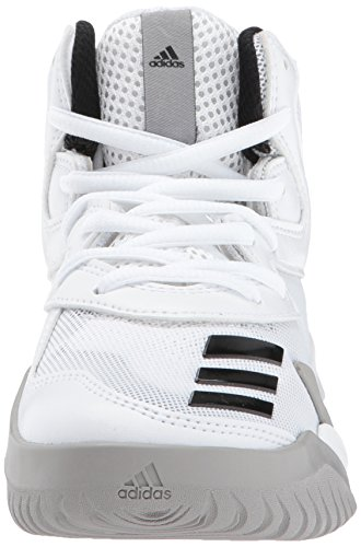 Adidas Heren Gek Team K Basketbalschoenen Wit / Zwart / Medium Effen Grijs
