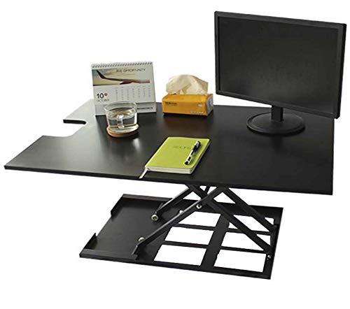 Standing Desk Converter-INNOVADESK 36-24 inches- Adjustable Standing desk - Sit Stand Desk Converter - Laptop Desk Riser- The Best Adjustable Standing Desk- Preassembled desk (Black)
