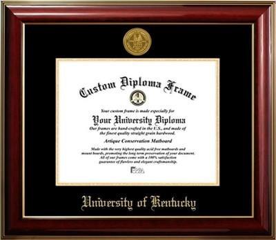 University of Kentucky Gold Medallion Diploma Frame