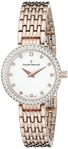 Claude Bernard Women's 20204 37R B Dress Code Analog Display Swiss Quartz Rose Gold Watch