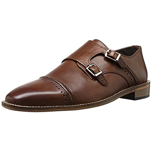 Stacy Adams Rycroft Monk Strap(Men's) -Black Leather