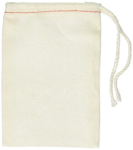 Cotton Drawstring Muslin Bags, 3' X 5' - Pack of 25