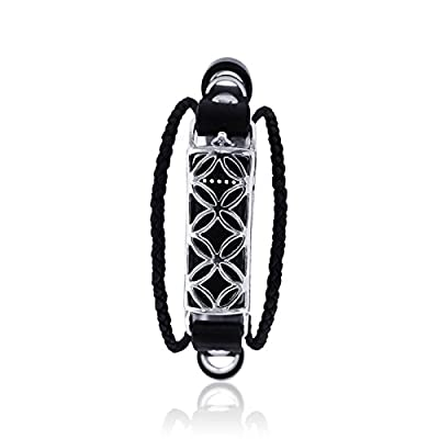 Fitbit Bracelet Fusion 2 - FitBit Jewelry - 925 sterling silver - rhodium plated- real leather