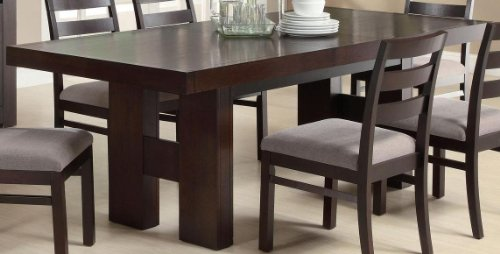 Leg Extension Gathering Table - Dabny Dining Table with Pull Out Extension Cappuccino