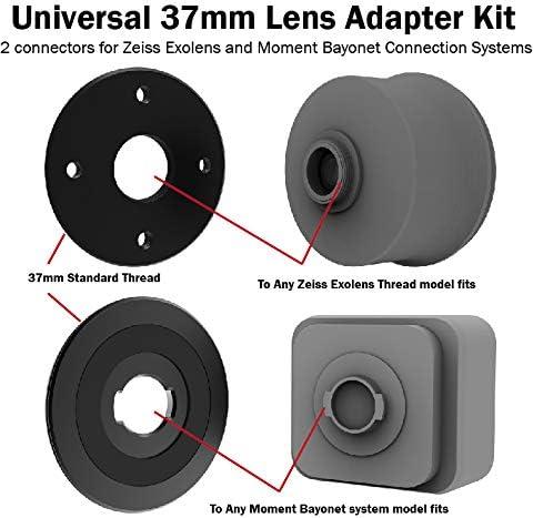 Juego de 2 adaptadores universales de 37 mm para Zeiss Exolens y ...