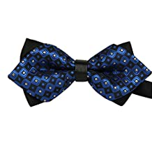TANGDA Casual Men Stripe Pre-tied Bow Tie Cravat Bowtie 11 Colors Available