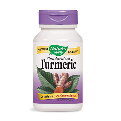 60 Way Natures Tabs - Nature's Way Standardized Turmeric; 95% Curcuminoids; TRU-ID Certified; Vegetarian, 60 Tablets (Packaging May Vary)