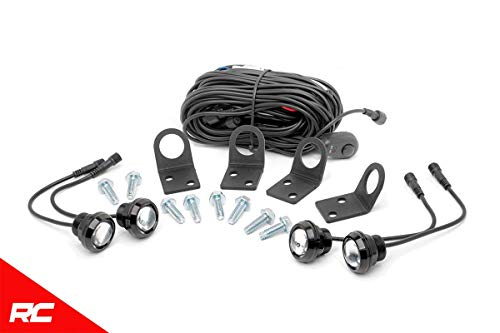 Rough Country LED (4) Rock Crawling Round Lights and Mounting Kit 70541