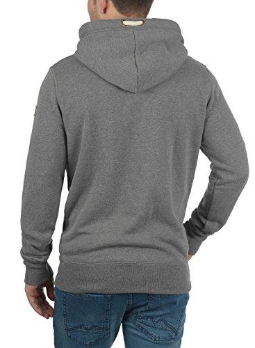 Melange Homme Hoodie Sweat Polaire Capuche Grey solid Triphood À Pour Doublure Pull 8236 qXZPnwx4n6